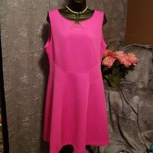 Hot pink dress by Ivanka Trump.